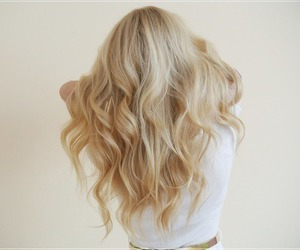 blonde, curly, and pretty image