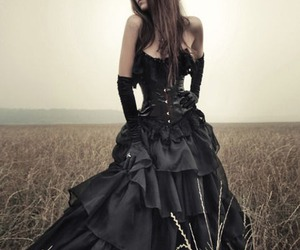 gothic, dress, and black image