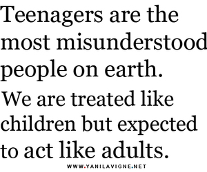 teenager, quotes, and Adult image