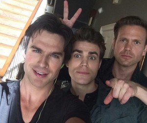 ian somerhalder, tvd, and paul wesley image