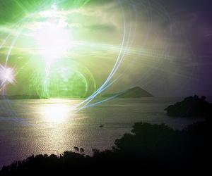 light, beautiful, and ocean image