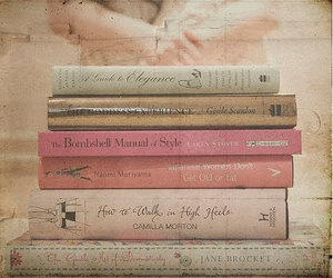 book, vintage, and pink image