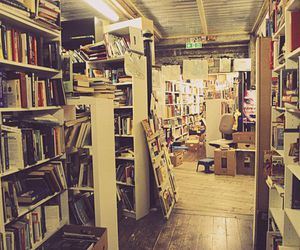 books, bookstore, and chaos image