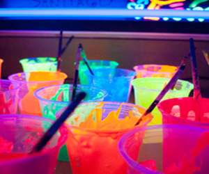 drink, neon, and colors image
