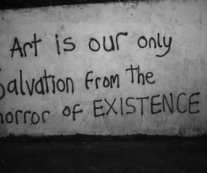 art, black and white, and cool image