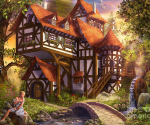 art, fairytale, and fairy house image