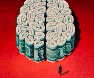 money, brain, and art image