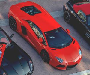 Lamborghini, car, and red image