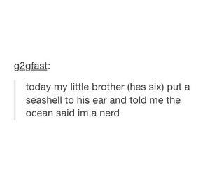funny, little brother, and nerd image