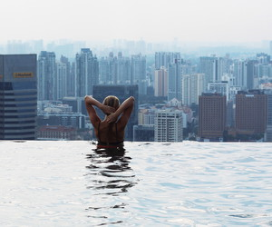 bikini, city, and girl image