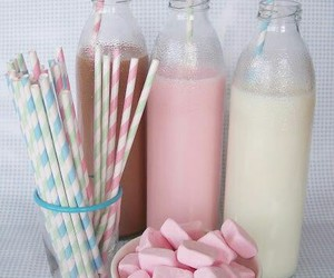 drinks, pink, and Straws image