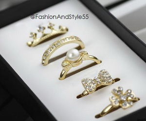 crown, fashion, and rings image