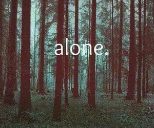 alone, forest, and sad image