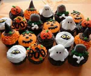 Halloween, cupcake, and ghost image