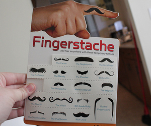 mustache, fingerstache, and funny image