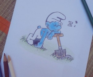 blue, colors, and crayons image