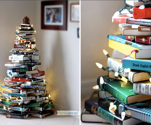 book, christmas, and lights image