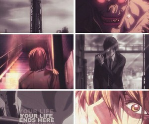 anime, light, and light yagami image