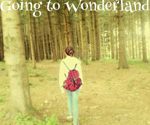 away, sad, and wonderland image