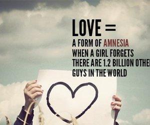 love, quote, and amnesia image