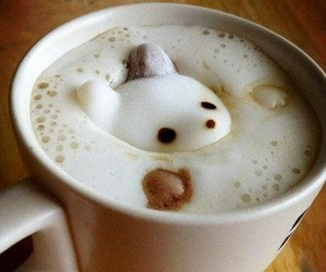 cat, coffee, and food image