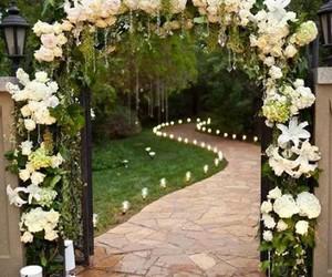 wedding, flowers, and decoration image