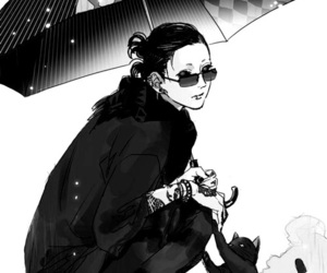 black and white, ghoul, and manga image