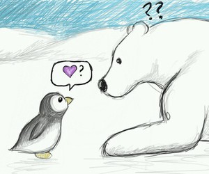 animals, pingu, and bear image