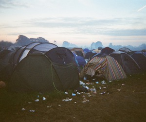 tent, camping, and indie image
