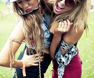 blonde, girl, and sunglasses image