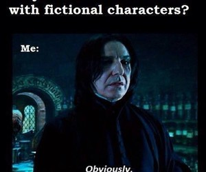 harry potter, snape, and fictional characters image