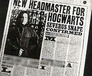 harry potter, severus snape, and daily prophet image