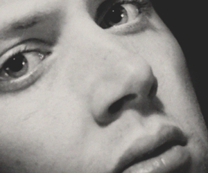 beautiful face, black and white, and dean winchester image