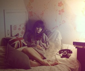 girl, telephone, and phone image