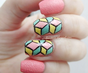 colorful, nail, and nails image