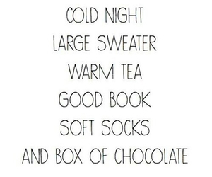 autumn, chocolate, and cold night image