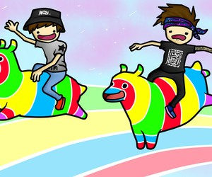 ardy, taddl, and rainbow image