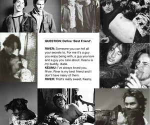 friendship, keanu reeves, and river phoenix image