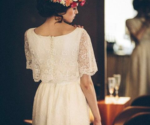 flowers, dress, and hair image