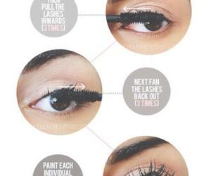 makeup, mascara, and tutorial image