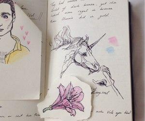 unicorn, art, and blue image