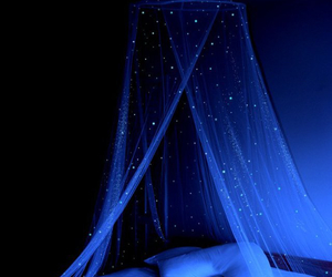 bed, stars, and night image