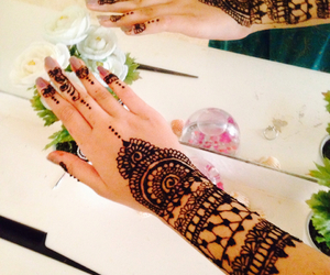 flowers and henna image