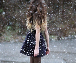 snow, girl, and ombre image