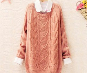 sweater, pink, and pretty image