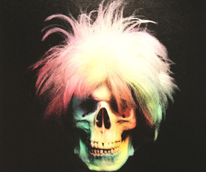 skull, art, and andy warhol image