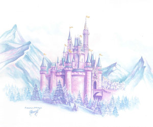 castle, disney, and princess image