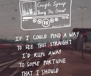 Lyrics, tape, and cough syrup image