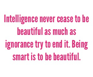 beautiful, being, and intelligence image