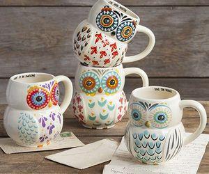 owl, mug, and cup image